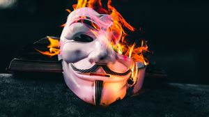 Preview wallpaper mask, fire, flame