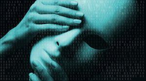 Preview wallpaper mask, hands, binary code