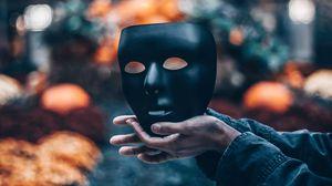 Preview wallpaper mask, hands, blur