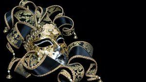 Preview wallpaper mask, masquerade, ribbons, patterns