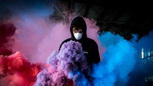 Preview wallpaper mask, colored smoke, multi-colored