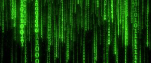 Preview wallpaper binary code, code, numbers, green, glow