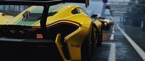 Preview wallpaper mclaren p1 gtr, mclaren p1, mclaren, sports car, rear view