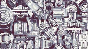 Preview wallpaper mechanism, pattern, art
