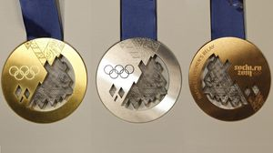 Preview wallpaper medal, medals, gold, silver, bronze, olympic games, sochi 2014, olympic