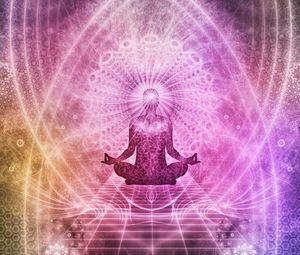 Preview wallpaper meditation, chakra, aura, lotus, yoga, energy, buddhism, mandala, art