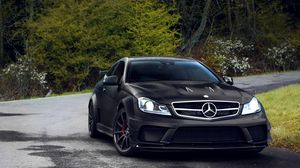 Preview wallpaper mercedes, auto, black, beautiful, expensive