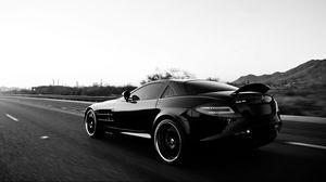 Preview wallpaper mercedes benz, car, black, track, style