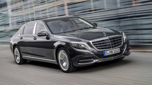 Preview wallpaper mercedes-benz, maybach, s-class, x222, side view