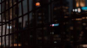 Preview wallpaper mesh, buildings, city, blur, dark