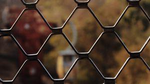 Preview wallpaper mesh, fence, fencing, motion blur, plexus
