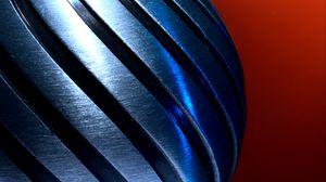 Preview wallpaper metal, metallic, twisting, spiral