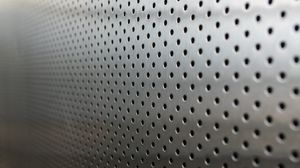 Preview wallpaper metal, points, holes, silver, background