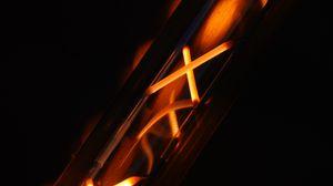 Preview wallpaper metal, red hot, hot, dark