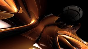 Preview wallpaper metal, shape, shadow