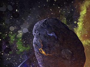 Preview wallpaper meteorite, stars, space, art