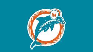 Preview wallpaper miami dolphins, logo, football club, miami