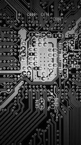 Preview wallpaper microcircuit, circuit, bw