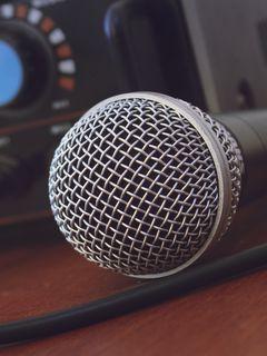 240x320 Wallpaper microphone, music, amplifier