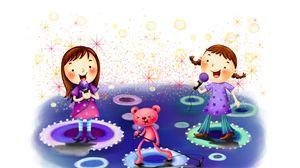 Preview wallpaper microphones, kids, singing, entertainment