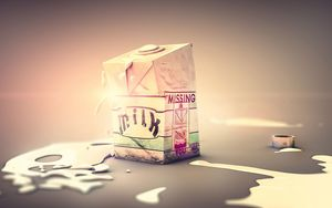 Preview wallpaper milk, box, drops