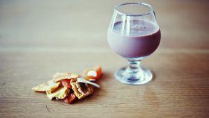 Preview wallpaper milk, drink, wine glass