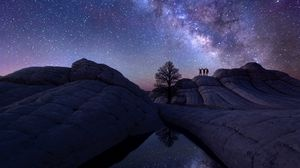 Preview wallpaper milky way, sky, astrophotography