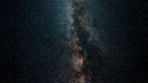 Preview wallpaper milky way, starry sky, stars, dark, space