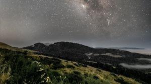 Preview wallpaper milky way, starry sky, stars, night, landscape
