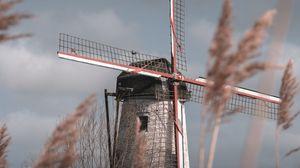 Preview wallpaper mill, wind, grass, sky