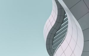 Preview wallpaper minimalism, building, bottom view, modern