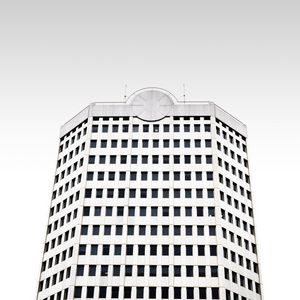 Preview wallpaper minimalism, building, facade, bottom view