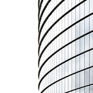 Preview wallpaper minimalism, building, white, architecture, facade