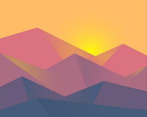 Preview wallpaper minimalism, geometric, landscape