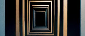Preview wallpaper minimalism, symmetry, space, squares, entrance, deepening