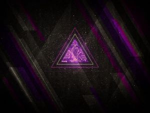 Preview wallpaper minimalism, triangle, lines, shades