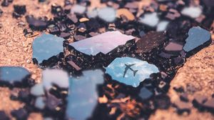Preview wallpaper mirror, shards, plane, glass, reflection