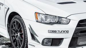 Preview wallpaper mitsubishi, auto, car, cars, white, bumper