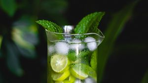 Preview wallpaper mojito, drink, lemon, mint, ice