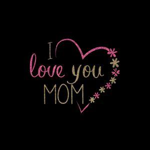 Preview wallpaper mom, love, heart, inscription, flowers