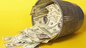 Preview wallpaper money, bucket, yellow, debris