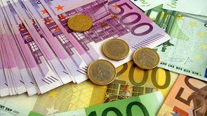 Preview wallpaper money, euro, banknotes, coins