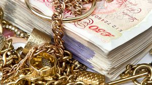Preview wallpaper money, notes, jewelry, chain