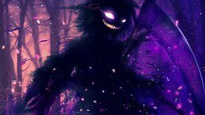 Preview wallpaper monster, art, smile, spooky