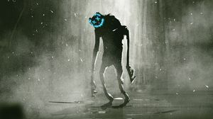Preview wallpaper monster, mask, creature, art