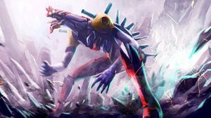 Preview wallpaper monster, mouth, aggression, sparks, destruction