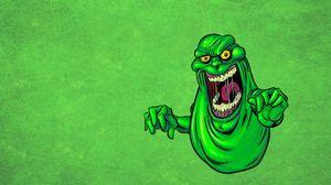 Preview wallpaper monster, mucus, saliva, green