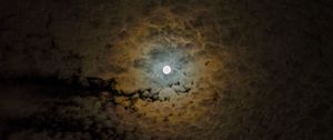 Preview wallpaper moon, clouds, sky, night