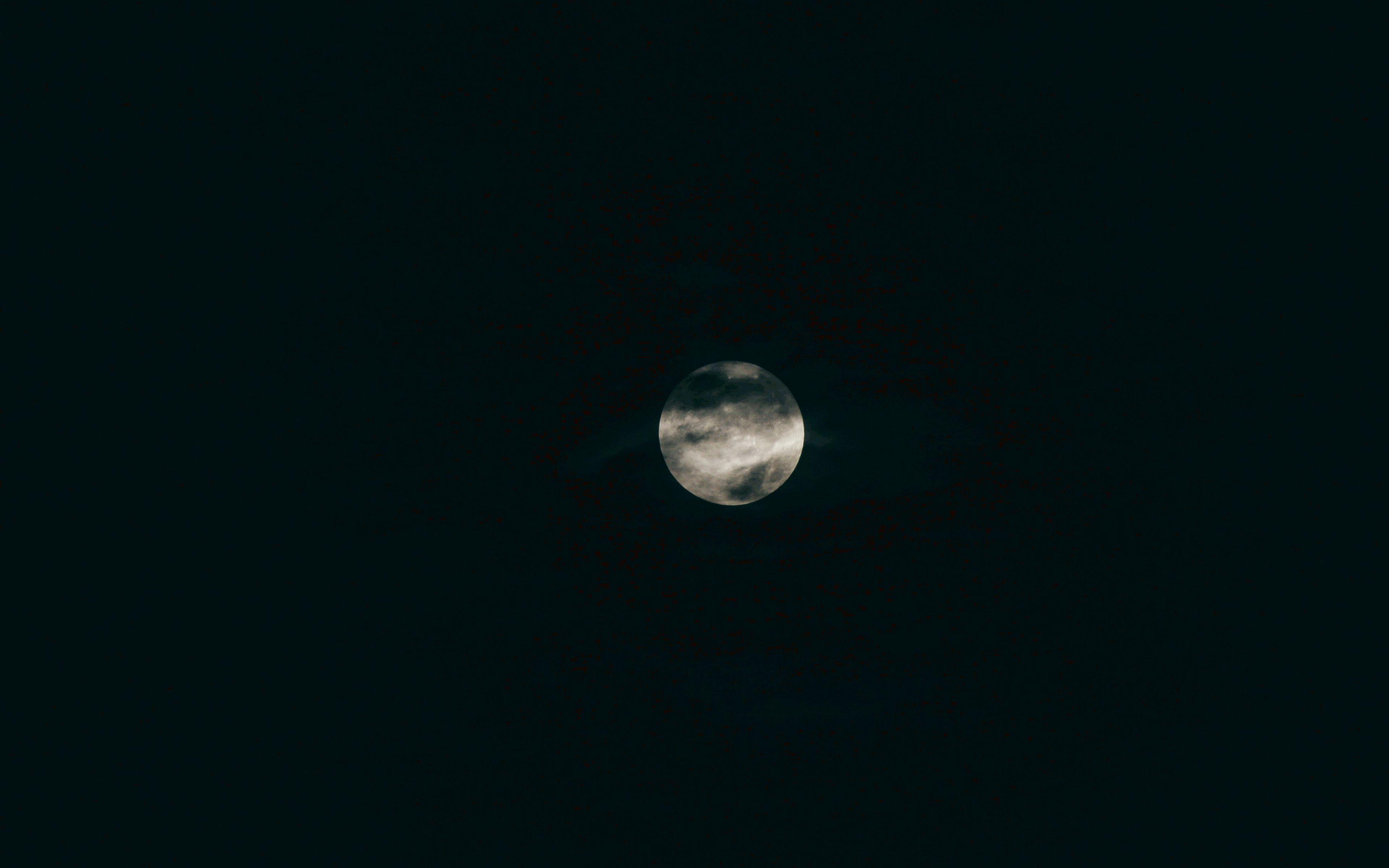 3840x2400 Wallpaper moon, full moon, planet