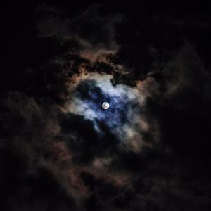 Preview wallpaper moon, night, clouds